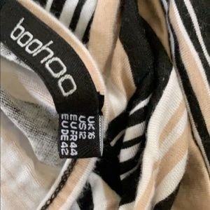 Boohoo Shorts - Striped romper
